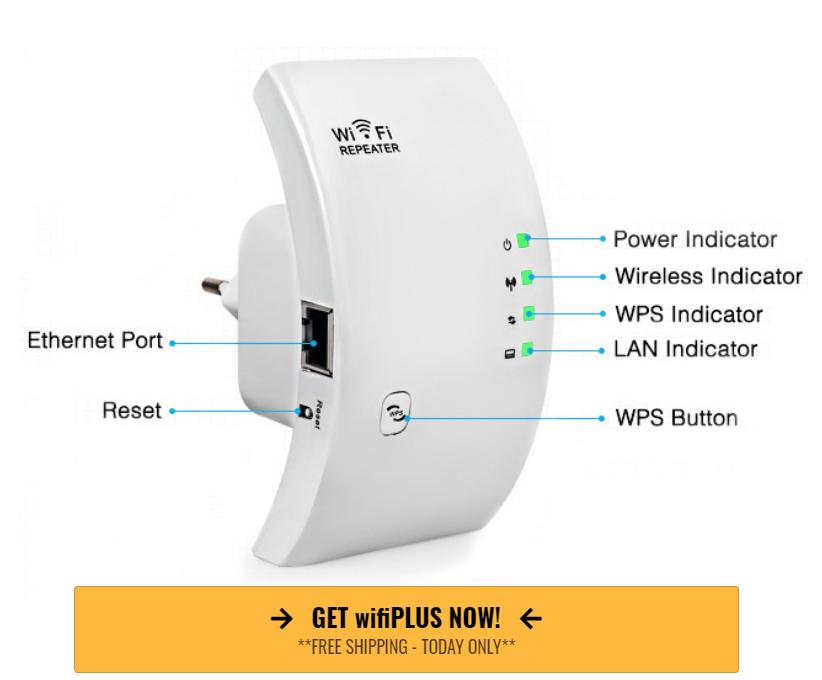 Nrghaus wifiPLUS Booster Plugin Device: Boost Wifi Range & Internet Speed
